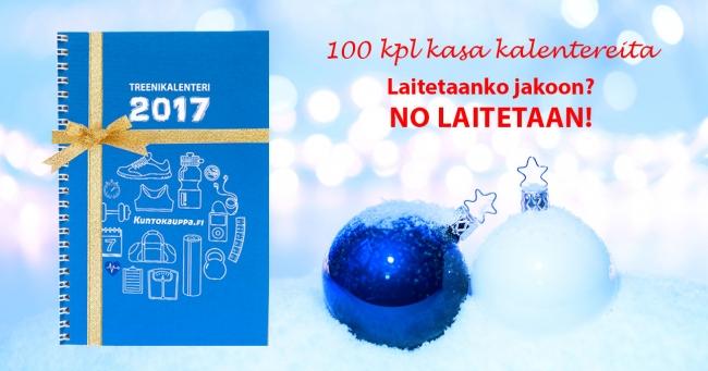 Voita Kuntokaupan treenikalenteri 2017