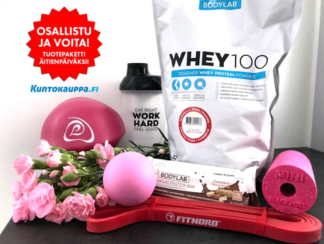 Voita upea tuotepaketti hyvinvointiin Äitienpäiväksi!