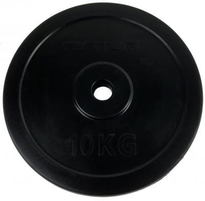 30 mm kumitettu levypaino 10 kg, Tunturi