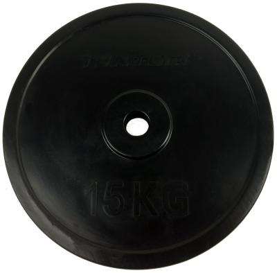 30 mm kumitettu levypaino 15 kg, Tunturi