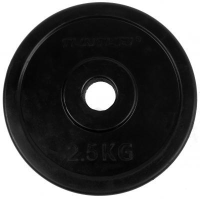 30 mm kumitettu levypaino 2,5 kg (pari), Tunturi