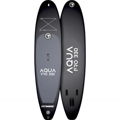 FitNord Aqua Pro 330 SUP-lautasetti, musta
