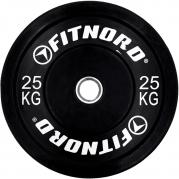 Levypaino Bumper Black 25 kg, FitNord