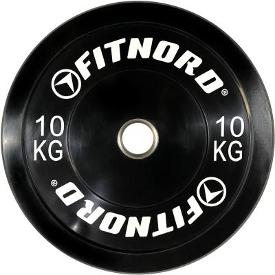 FitNord Bumper Black 10 kg Levypaino
