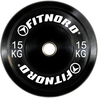 FitNord Bumper Black 15 kg Levypaino