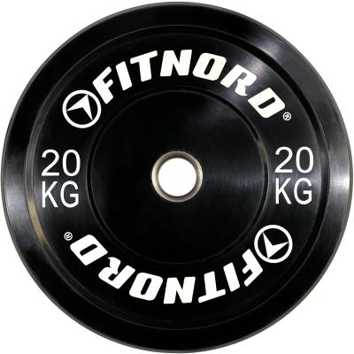 FitNord Bumper Black 20 kg Levypaino