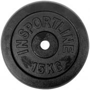 inSPORTline Blacksteel Levypaino 30 mm 15 kg