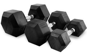 Käsipainot Hex 55 kg (pari), FitNord