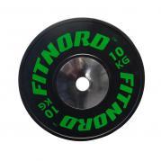 Kilpailulevypaino Bumper Plate 10 kg, FitNord