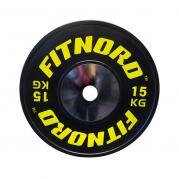 Kilpailulevypaino Bumper Plate 15 kg, FitNord