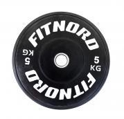 Kilpailulevypaino Bumper Plate 5 kg, FitNord
