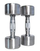 Kromattu käsipainopaketti PRO 1-10 kg + teline, FitNord