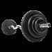 Kulmatanko kierrelukoilla 30 mm levypainoille, 120 cm (EZ-tanko) painoilla