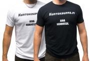 Kuntokauppa.fi T-Paita - Aina kunnossa, miesten malli, musta L