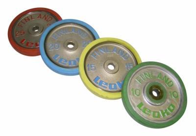 Painonnostopaino 25 kg, LEOKO kilpailulevypaino kumireunuksella