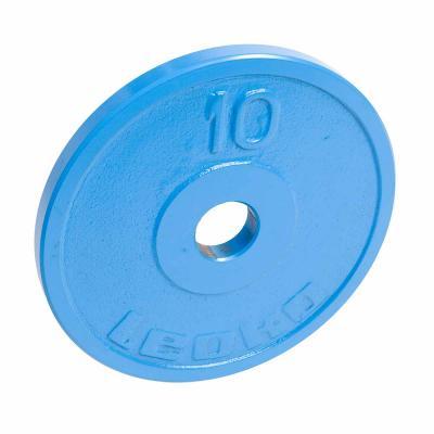 LEOKO metallilevypaino 10 kg, IPF-hyväksytty voimanostoon