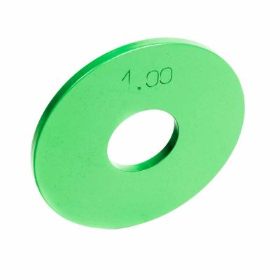 LEOKO metallilevypaino 1 kg, IPF-hyväksytty voimanostoon