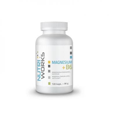 Magnesium, Nutri Works Magnesium + B6 120 kaps.
