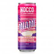 NOCCO BCAA Miami Strawberry -energiajuoma, 330ml, 24-PACK