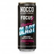 NOCCO Focus 3,  Raspberry Blast -energiajuoma, 330ml, 24-PACK