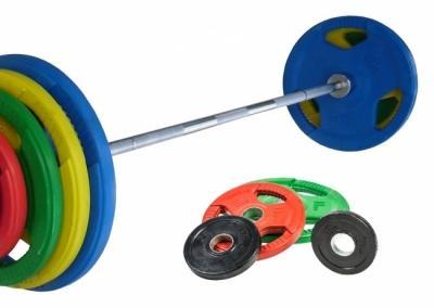 Levytankosarja / levypainosarja Olympia Tri Grip 85 kg