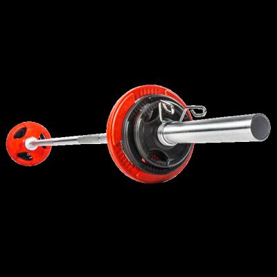 Olympia-painonnostotanko 20 kg, max. 680 kg levyillä ja jousilukoilla