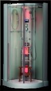 Saunatar Elite 27, infrapunasauna ja höyrysauna lasisessa suihkukaapissa yhdelle hengelle