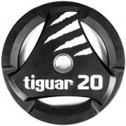 Tiguar otekahvallinen 20 kg PU levypaino