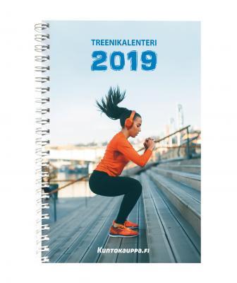 Treenikalenteri vuodelle 2019 - Kuntokauppa.fi kansikuva