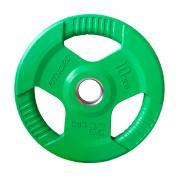Levypaino 10 kg Tri Grip Olympic, vihreä