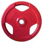 Levypaino 25 kg Tri Grip Olympic, tummanpunainen