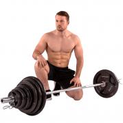 Tunturi Olympic Tri-Grip - levytanko- ja painopaketti 100 kg