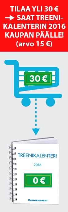 Tilaa tuotteita 30 € - Saat Treenikalenterin kaupanpäälle!